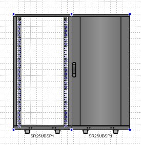 sample drawing with 2 equipment racks - My Visio