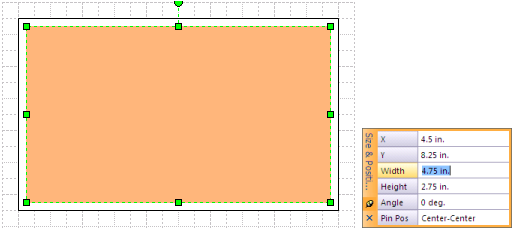 Two stacked Visio rectangles